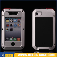 Heavy duty metal shockproof case for iphone 4 4s protector case