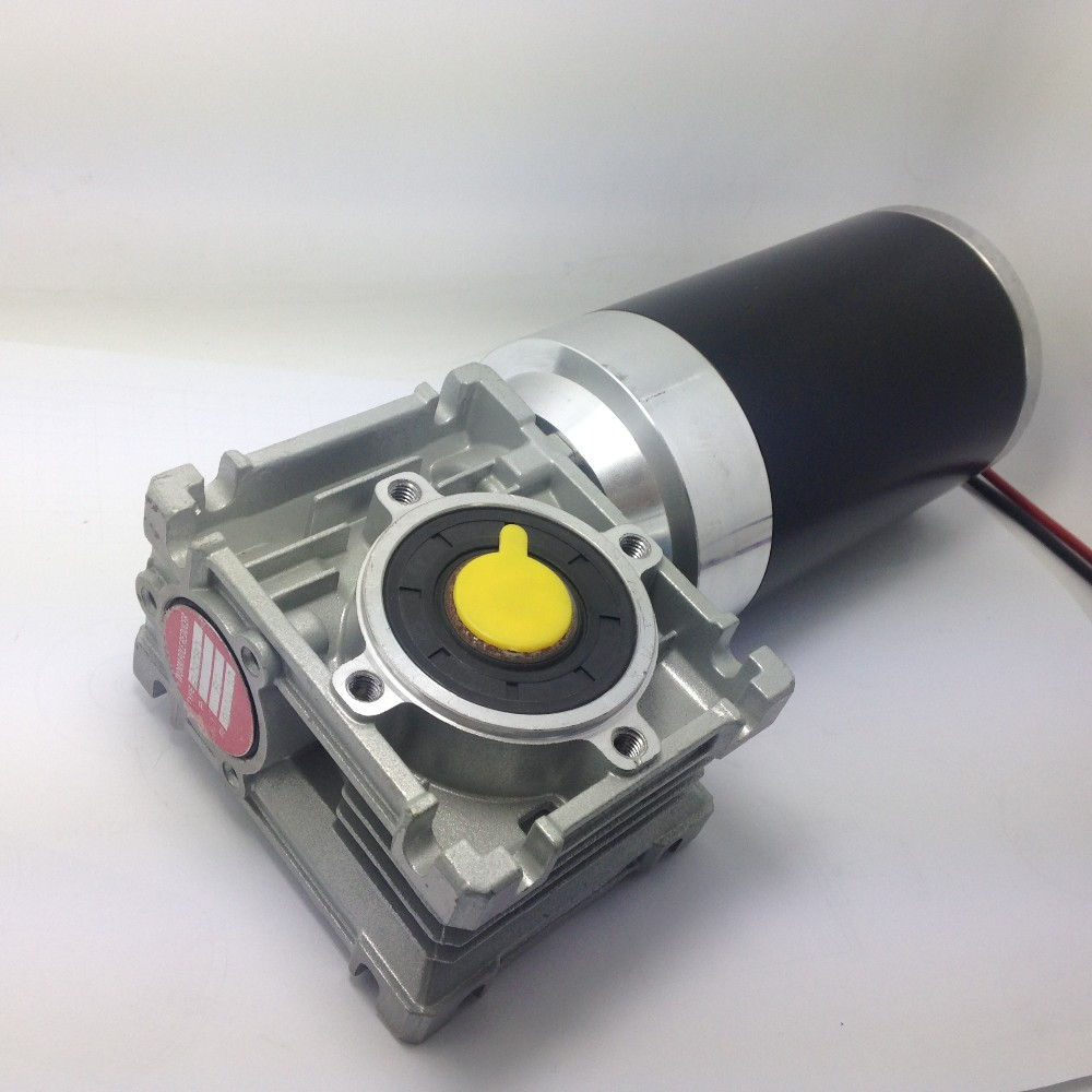 dc 12v 24V 120w worms motor 80mm pm motor with worm gear
