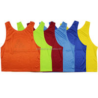Wholesale customized sportswear tank top, training soccer vest in stock, soccer bibs for football training