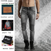 Men Grey Skinny Fit Stretchable Jeans new designs photos dy denim trousers bulk wholesale