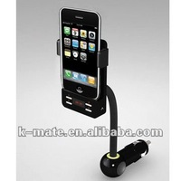 FM transmitter for iPhone/iPod with holder