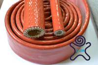 Fiberglass fire proof hose,silicone rubber coating