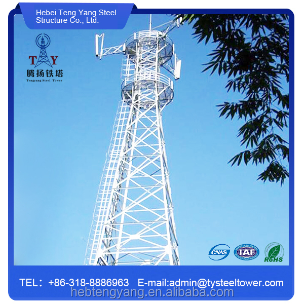 Self Supporting Radio Microwave Antenna Telecommunication Steel Tower