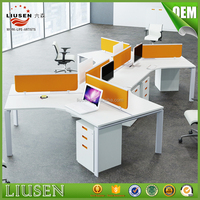 Top quality workwell office furniture 6 people office executive workstation desk