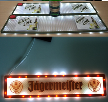 promotional electronic light LED soft rubber pvc counter bar mat