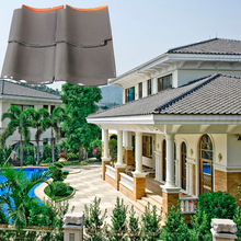 J1 305x305mm easy install metro grey clay double colored roof tile