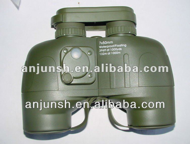 7x50 military multi-coated outdoor binocular telescope with compass