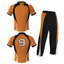 2017 sublimated customized cricket jersey uniforms design with two needle stitich
