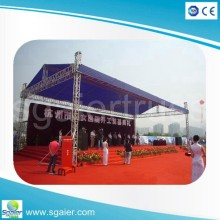 Aluminum Truss Curve roof truss system factory price pagoda truss