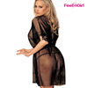 Wholesale Black Sexy Busty Babydoll Dress Negro Transparente