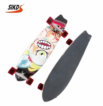 27*8.0 inch 7 ply canadian maple skateboard single kick cruiser skateboard