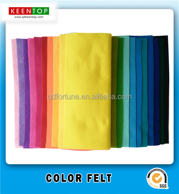 Colored Polyester Felt in Rolls Children DIY Non woven Fabric