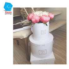 2017 round shape flower box luxury paper hat box with lid