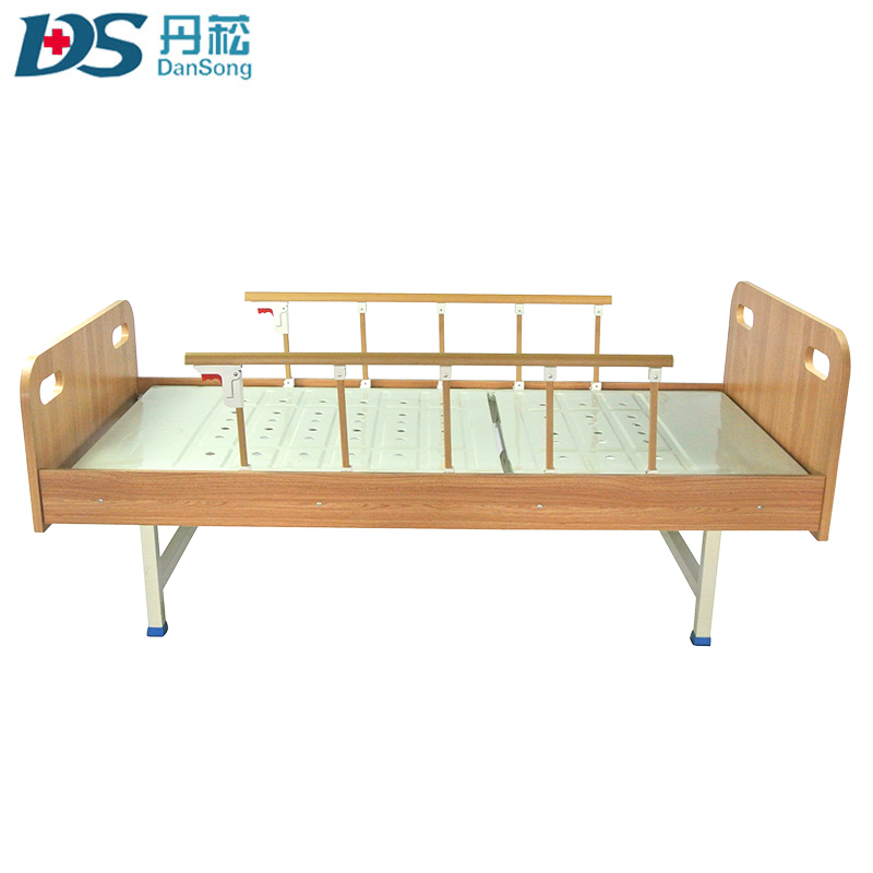 family care steel guardrail hospital turning bed with one crank