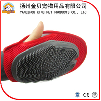 Grooming tool soft rubber palm sized pet massage brush dog glove