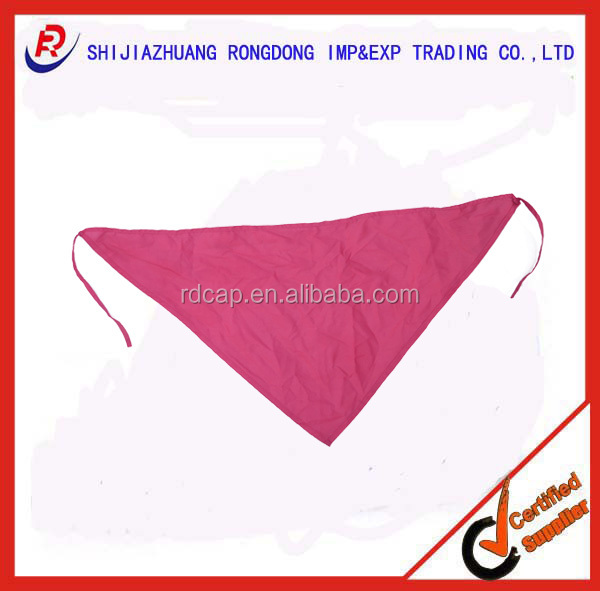 promotional 100% cotton triangle scarf red
