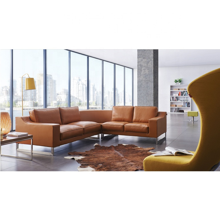 Synthetic leather chesterfield style sectional sofa furniture price turkey  sofa set brown leather sofa sets
