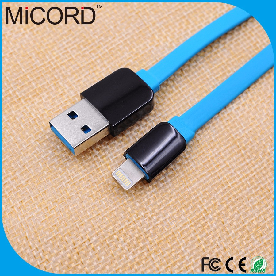 High speed flexible flat TPE micro USB charging extension cable for mobile phone charger