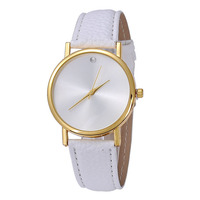 2016 New Trendy Top Brand Simple Style Women Fashion Blank Dial Watch