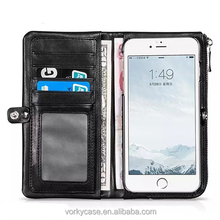 Mobile Phone case factory best sell leather wallet magnet case for phone