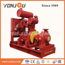 Trailer emergency electric motor driven fire pump