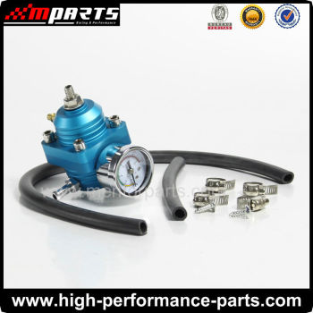 Mparts Adjustable Fuel Pressure Regulator with Gauge
