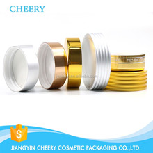 Oxidated Golden Screw Aluminum Cap , Gold Aluminum Lid For Cream Jar