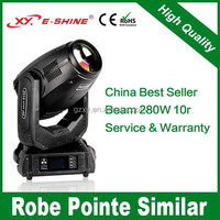 China best seller 280w 10r beam spot wash 3in1 light moving head guangzhou