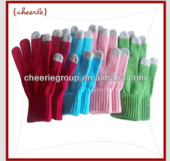 soft cotton lycra touch gloves with good elasticity