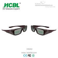 Reusable scratches resistant filter lens passive circular polarized 3d glasses