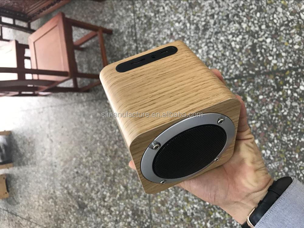 Mini Portable Real Wood wireless Speaker With Super Bass Sound Fashion Speaker Wooden Mini Speaker