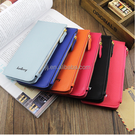 New leisure ms medium long multi-function zipper wallet card