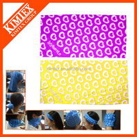 Customized seamless printed tube elastic head wrap