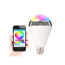 smart blue light ,china wholesale music bluetooth led bulb with speaker , portable active speaker with led light