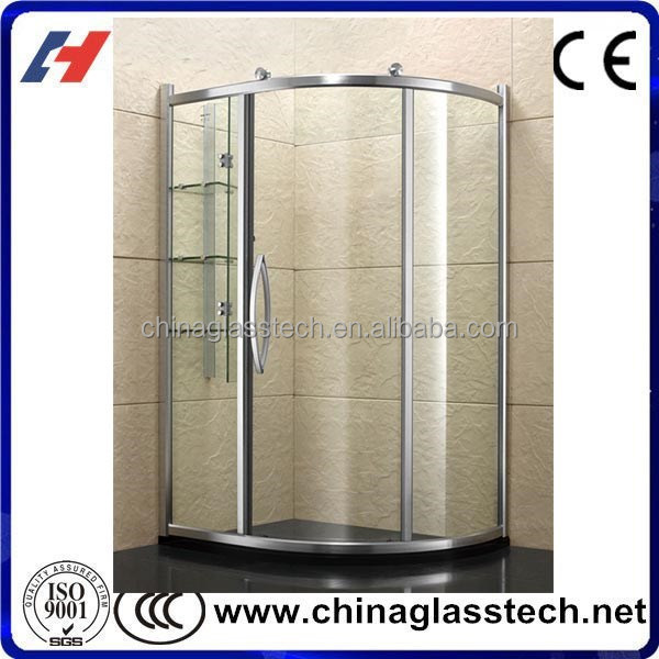 Factory Supply Customized Bent/Flat Tempered Shower Enclosure Glass