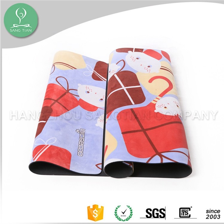 China wholesale small custom pattern children yoga anti slip rubber mat roll
