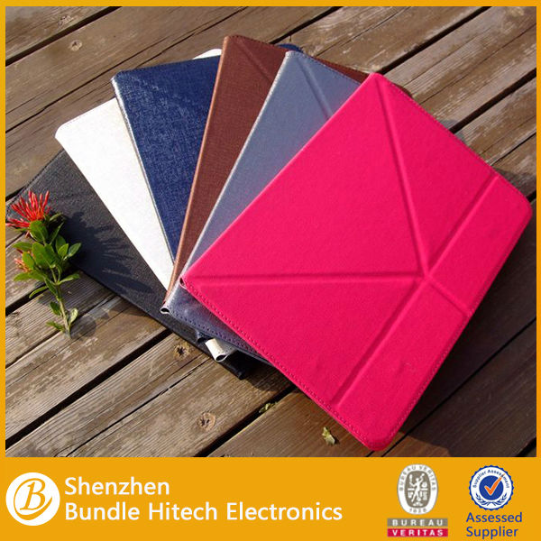 For ipad air transformers case,smart leather cover for ipad air