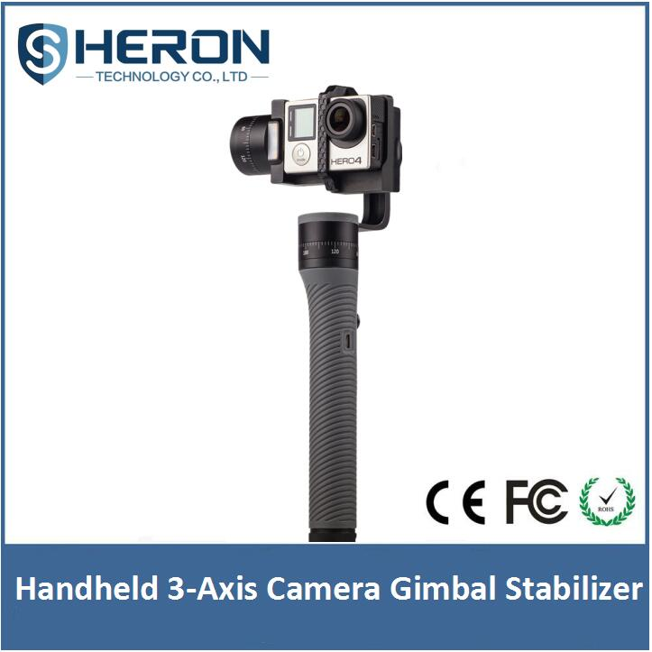 Heron gopros handheld gimbal 3-Axis Handheld version with encoder for drone gimbal action camera