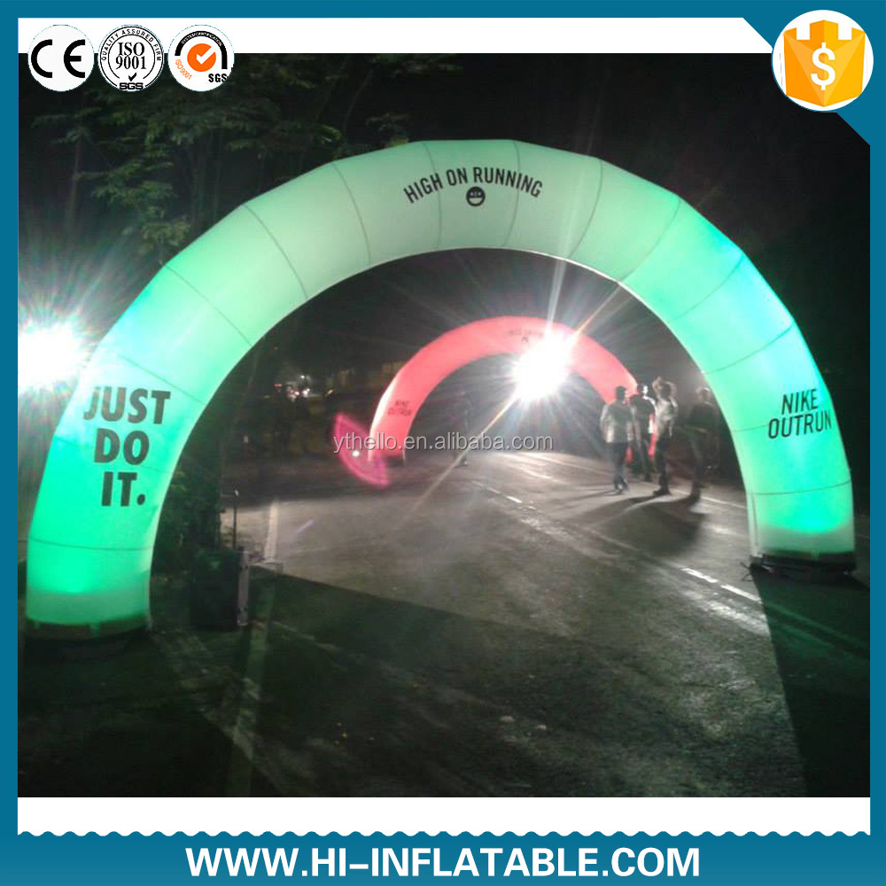Cheap portable Inflatable led christmas gate arch for sale