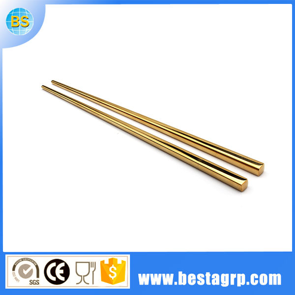 stainless steel chopstick set, gold chopsticks, 304 stainless steel chopsticks