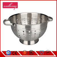 Stainless steel colander/stainless colander with stand/with handle