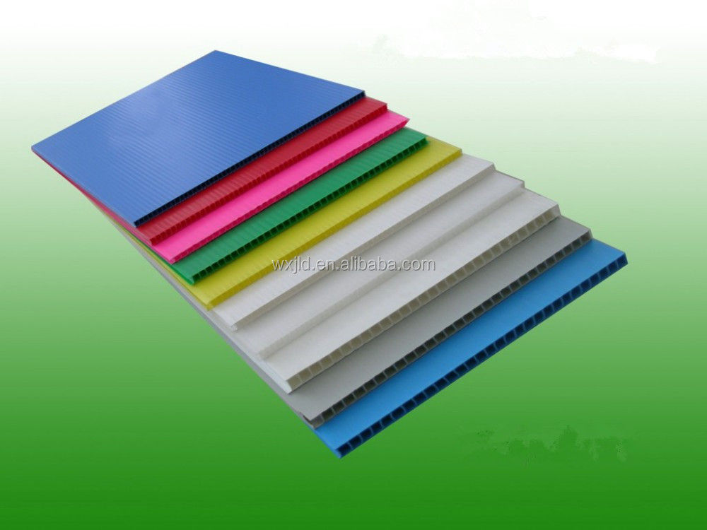 extroded polypropylene pp corrugated plastic sheet with ISO SGS certificate