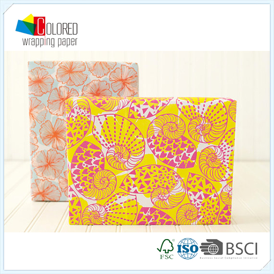 Colorful Sea Shell Printing Printed Gift Wrapping Paper Wholesale Packaging Paper Factory Direct