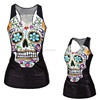 plain sublimation skull black cheap sexy summer women collar t shirt design