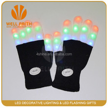 even rave party item supplier light up led gloves cotton RGB