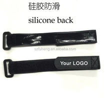Plastic buckle hook and loop strap with silicon rubber