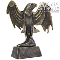 Antique Brass Outdoor Life Size Eagle Statues