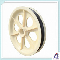 OEM custom drawing sheave pulleys injection molding plastic pulley