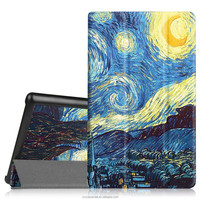 Folio Case with Stand for Kindle Fire HD 8 2016 Model Smart Cover Case with Starry Night design picture