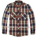 OEM Fashionable mens flannel checked thick plaid shirts man